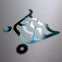 Bugnatese COMPLEMENTI Álló szappantartó matt üveg betéttel króm színben 23801