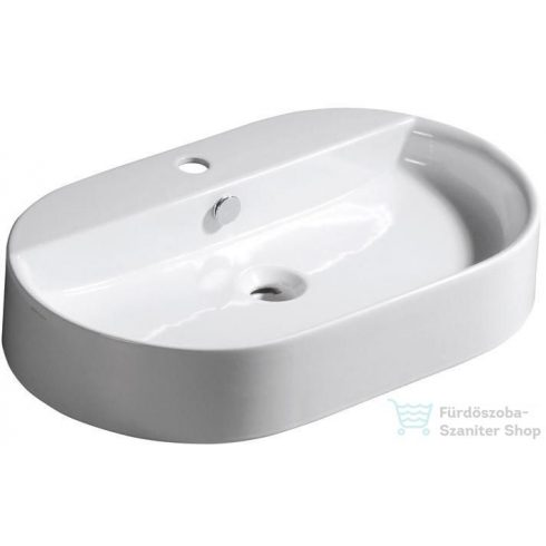 Sapho Pultra szerelhető RING mosdó 65x12x40 cm 028501