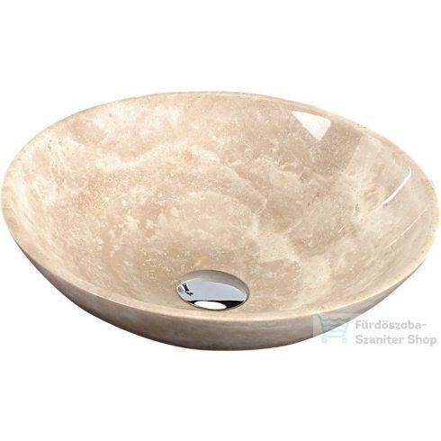 Sapho BLOK 1 mosdó 40x12 cm, csiszolt bézs, Travertin 2401-01