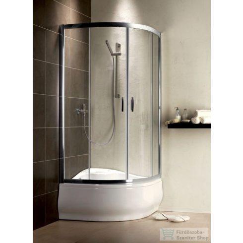 Radaway Premium Plus A 1700 80x80 íves tolóajtós zuhanykabin króm/átlátszó 30411-01-01N