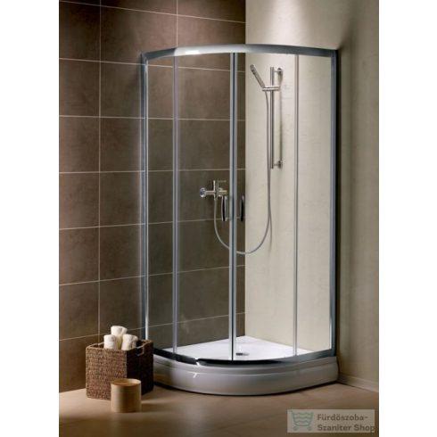 Radaway Premium Plus A 80x80 íves zuhanykabin króm/átlátszó 30413-01-01N