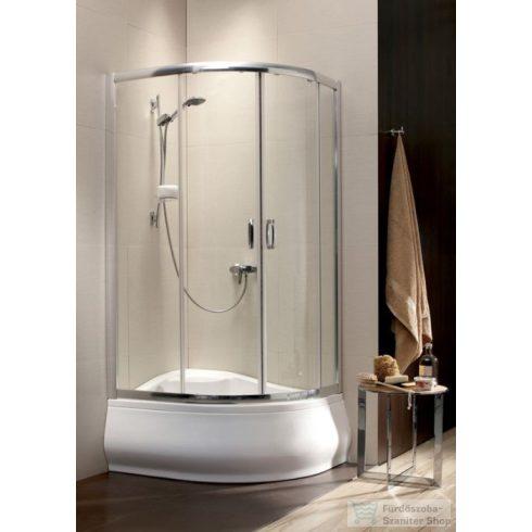 Radaway Premium Plus E 1700 100x80 aszimmetrikus íves tolóajtós zuhanykabin króm/átlátszó 30481-01-01N