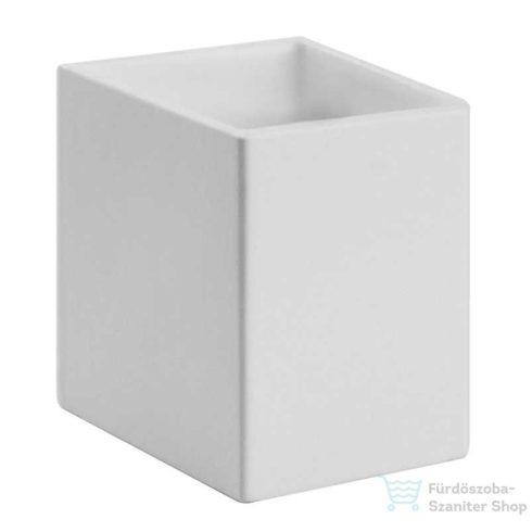 Bugnatese COMPLEMENTI Álló pohártartó matt fehér kerámival króm színben 31803
