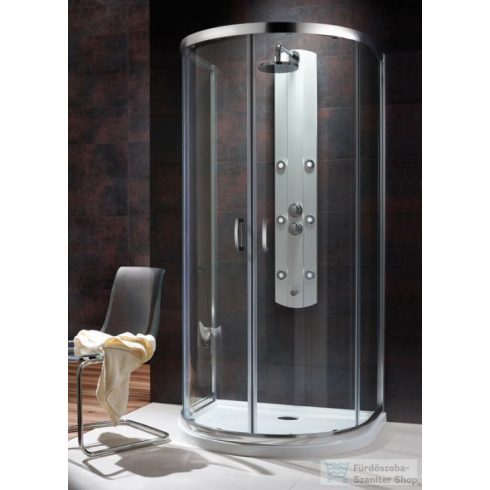 Radaway Premium Plus P 100x90 félköríves tolóajtós zuhanykabin króm/átlátszó 33300-01-01N