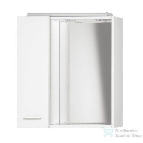 AQUALINE ZOJA tükrösszekrény LED világítással, balos, 60x60x14cm, fehér 45021
