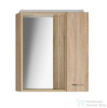 AQUALINE KERAMIA FRESH tükrösszekrény halogén világítással,platina tölgy, jobb 60x60x14 cm 45028