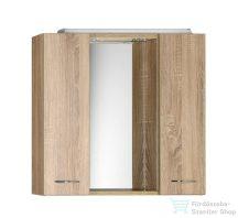 AQUALINE KERAMIA FRESH tükrösszekrény halogén világítással, platina tölgy 70x60x14?cm 45029