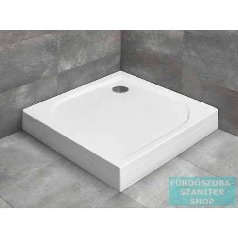 Radaway Delos C 80x80 szögletes zuhanytálca ST 90 zuhanyszifonnal és levehető előlappal 4C88170-03