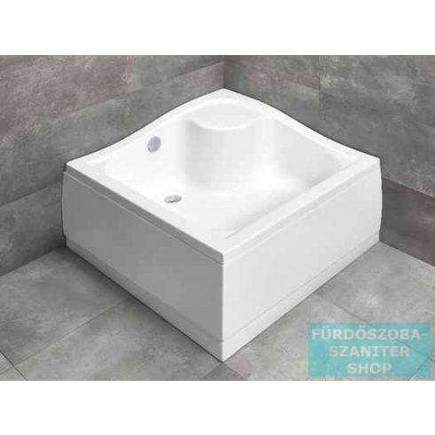 Radaway Korfu C 80x80 szögletes magasított zuhanytálca 4C88400-03