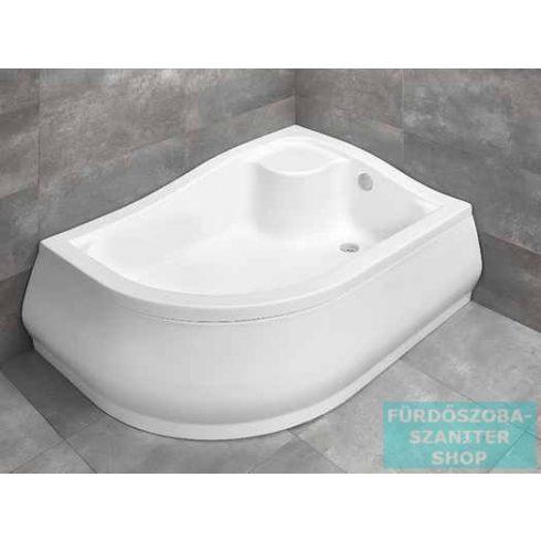 Radaway Korfu E 100x80 íves aszimmetrikus magasított zuhanytálca jobbos 4E81400-03R