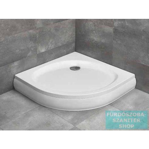 Radaway Patmos A 80x80 íves zuhanytálca ST 90 zuhanyszifonnal és levehető előlappal 4S88155-03