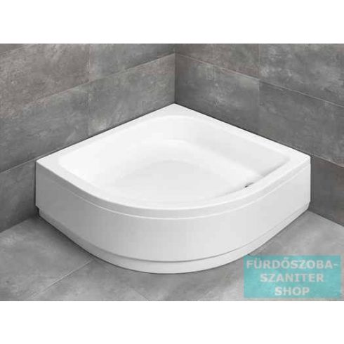 Radaway Samos A 80x80 íves magasított zuhanytálca ST 50 zuhanyszifonnal és levehető előlappal 4S88300-03