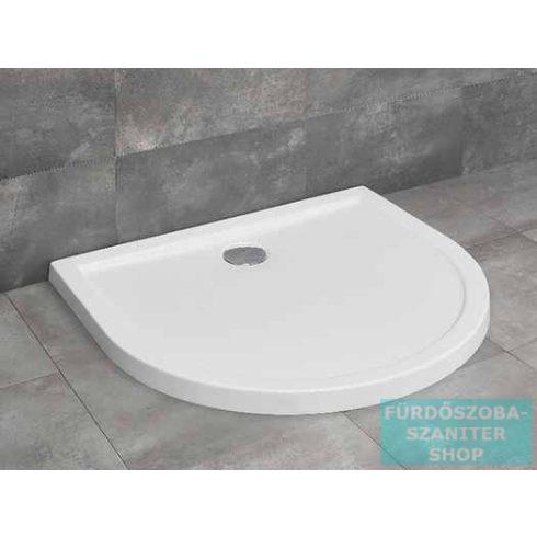 Radaway Delos P 100x90 félköríves zuhanytálca ST 90 zuhanyszifonnal 4Z19035-03N