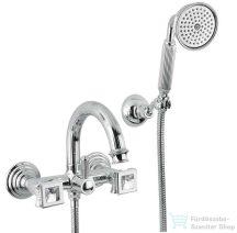 Bugnatese OLYMPIA Kádcsaptelep zuhanyszettel swarovski fog.val króm színben 8402K