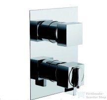 Bugnatese TETRIS Fal alatti termosztátos 3 állású zuhanycsaptelep króm színben 9153