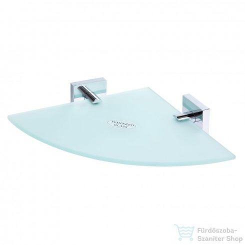 AREZZO design BEMETA Beta sarok üvegpolc, 250x250 mm AR-132102012