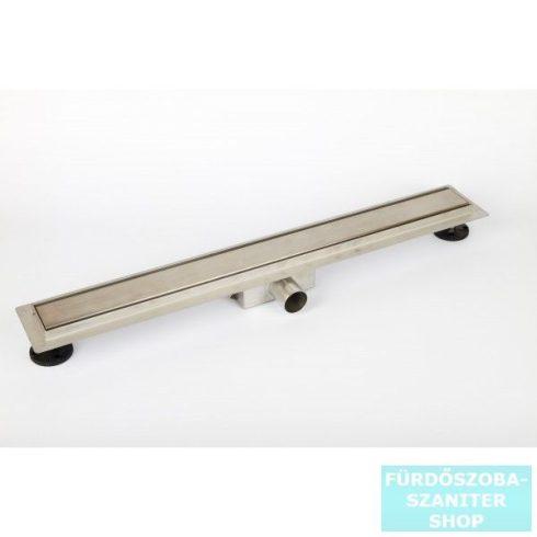 AREZZO design 900 mm-es rozsdamentes acél folyóka Steel ráccsal AR-900