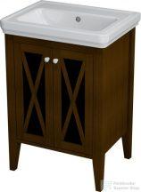 Sapho CROSS Mosdótartó szekrény, 55x81x43 cm, mahagóni CR060