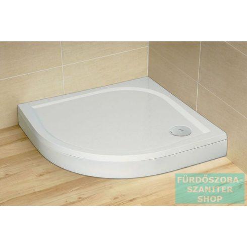 Radaway Paros A 80x80 íves műmárvány zuhanytálca ST 90 zuhanyszifonnal MBA8080-03-1