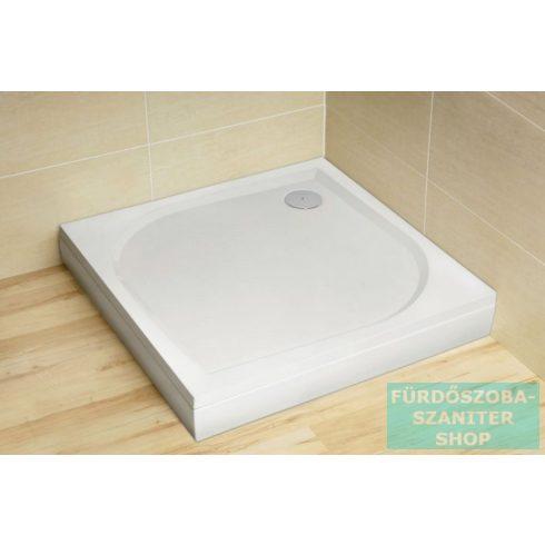 Radaway Paros C 80x80 szögletes műmárvány zuhanytálca ST 90 zuhanyszifonnal MBC8080-03-1
