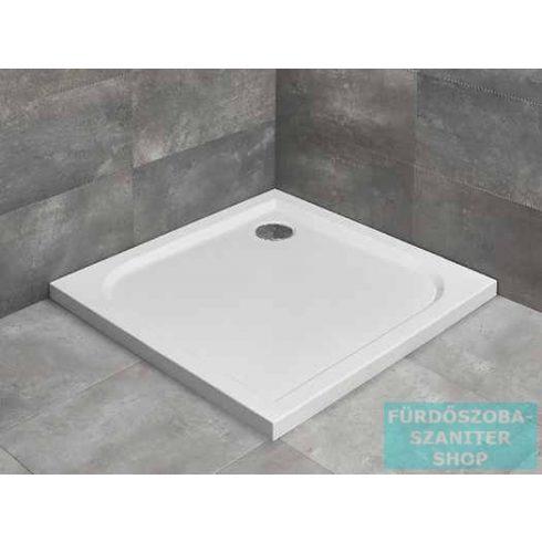 Radaway Delos C 80x80 szögletes zuhanytálca ST 90 zuhanyszifonnal SDC0808-01
