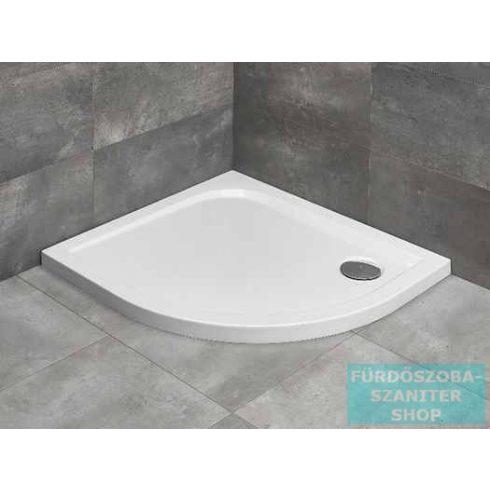 Radaway Delos E 90x80 íves aszimmetrikus zuhanytálca ST 90 zuhanyszifonnal balos SDE9080-01L