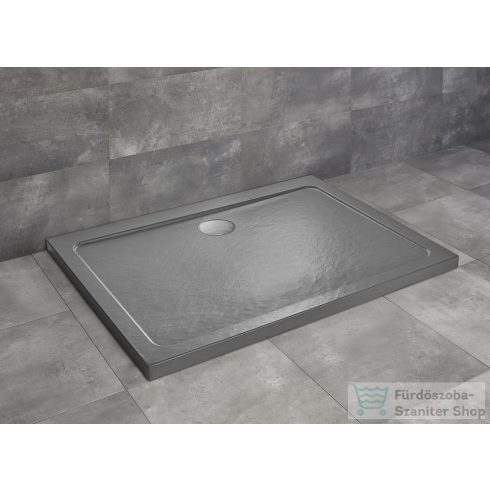 Radaway Doros Stone D 90x80 zuhanytálca antracit SDRD9080-01-64S