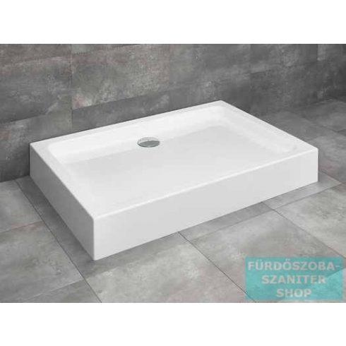 Radaway Laros D 90x80 szögletes zuhanytálca ST 90 zuhanyszifonnal SLD8917-01