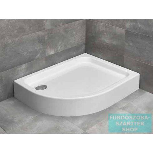 Radaway Laros E 100x80 íves aszimmetrikus zuhanytálca ST 90 zuhanyszifonnal jobbos SLE81017-01R