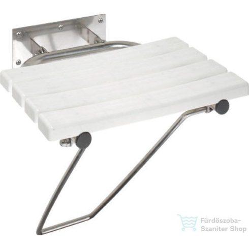 Sapho BEMETA HELP Lehajtható zuhany ülőke támasztékkal, 462x120x450mm, polírozott (301102181) (XH001)
