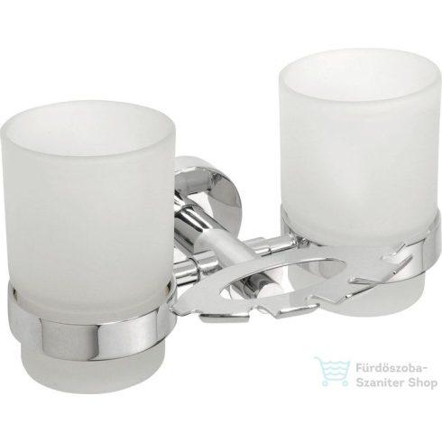 Sapho BEMETA OMEGA Dupla pohár és fogkefetartó, 190x95x125mm, króm (104110042) (XR900)