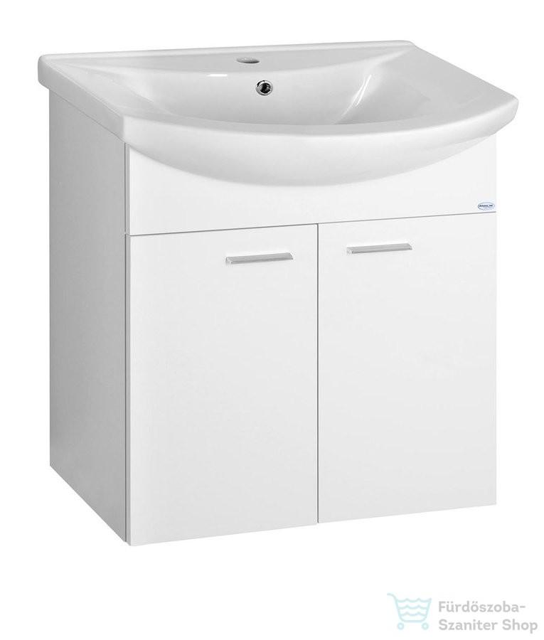 AQUALINE ZOJA mosdótartó szekrény, 2 ajtós, 61,5x74x32,5cm, fehér 51063